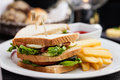 Sandwich With Fried Eggs Stock Images - 70495134