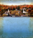 Autumn In Door County On Grunge Background Royalty Free Stock Photos - 7053878