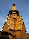 Wooden Church, Moscow Russia Stock Photos - 7055093