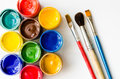 Paints And Brushes Stock Photography - 70516502