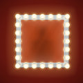 Makeup Mirror With Electric Bulbs. Vector Illustration Royalty Free Stock Photos - 70536588