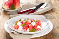 Watermelon Salad In Plate. Stock Photos - 70549843