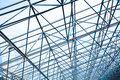 Metal Pillar Structure Of Modern Office Architecture Glass Roof Stock Photography - 70556602