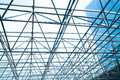 Metal Pillar Structure Of Modern Office Architecture Glass Roof Stock Photography - 70556622