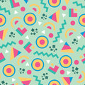 Abstract Background Vector Seamless Pattern In Fashion Retro Style Of Memphis Italian Design Group 80s. Royalty Free Stock Image - 70587766