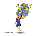 Follow Me Art Royalty Free Stock Image - 70597726