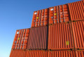 Stack Of Freight Containers Stock Photos - 7061983