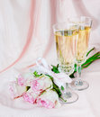 Wine And Pink Roses Royalty Free Stock Photos - 70604138