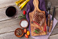 Grilled Beef Steak And Wine Stock Photos - 70624113