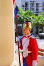 Guard Standing By The Entrance To National Pantheon Of The Heroe Stock Photography - 70636872