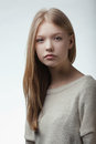 Beautiful Blond Teen Girl Portrait Royalty Free Stock Photography - 70649197