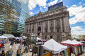 Street View On Alexander Hamilton US Custom House Lower Manhattan Royalty Free Stock Photos - 70649198