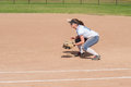 Female Softball Player In Ready Position Royalty Free Stock Photo - 70703835