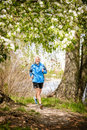 Senior Man Running In The Forest Royalty Free Stock Photos - 70726268