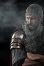 Medieval Warrior With Chain Mail Armour Stock Image - 70732511