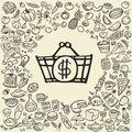 Doodle Food Icons Royalty Free Stock Photography - 70742617