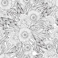 Pages For Adult Coloring Book. Hand Drawn Artistic Ethnic Ornamental Patterned Floral Frame In Doodle. Stock Images - 70743654