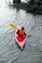 Man In The Kayak Royalty Free Stock Image - 70762256