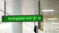 Emergency Exit Sign Royalty Free Stock Photo - 70787415