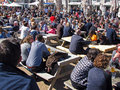 Crowd Having Drinks, Brighton, UK Royalty Free Stock Image - 70789986