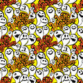 Seamless Pattern With Funny Ghost. Happy Halloween Background. Stock Images - 70793834