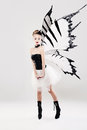 Beautiful Woman With Butterfly Wings Royalty Free Stock Image - 70804746