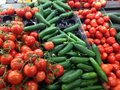 Vegetables Tomatoes Cucumbers Fresh Produce Stock Photos - 70821203