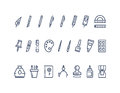 Drawing And Writing Tools. Line Vector Icons Set Stock Photo - 70822120