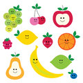 Fruit With Faces Clipart Stock Photo - 70836320