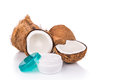 Tub Containing Coconut Oil Are Used As Moisturizer For Skin Royalty Free Stock Photo - 70844225