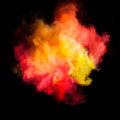 Freeze Motion Of Colored Dust Explosion Stock Image - 70874601