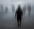 Blurred Mysterious People Walking Royalty Free Stock Photos - 70878008