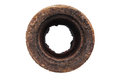 Top View Of An Old Rusty Pipe Isolated On A White Stock Images - 70884934