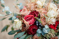 Beautiful Colorful Wedding Bouquet Royalty Free Stock Photos - 70887348