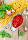 Homemade Tomato Sauce For Pasta And Meat From Fresh Tomatoes  With Garlic, Basil And Spices Royalty Free Stock Images - 70909339