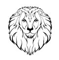 Vector Illustration Of A Lion S Head Royalty Free Stock Photography - 70917677