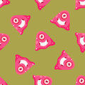 One-Eyed Alien Seamless Pattern Royalty Free Stock Image - 70938986