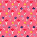 Seamless Floral Pattern With Small Flowers Stock Image - 70946431