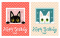 Happy Birthday Card. Happy Birthday Card With Cute Cat. Greeting Card. Stock Photo - 70965790
