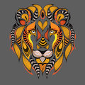 Patterned Colored Head Of The Lion. African / Indian / Totem / Tattoo Design. It May Be Used For Design Of A T-shirt, Bag, Postcar Stock Photos - 70981203