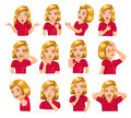 Girl Gestures And Facial Expressions Royalty Free Stock Photos - 70986008