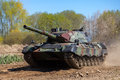 German Leopard 1 A 5 Tank Drives On Track Stock Photography - 71018682