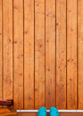 Rubber Shoes In Wooden Porch Deck Doorway Stock Images - 71026354