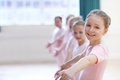 Group Of Young Girls In Ballet Dancing Class Stock Image - 71033521