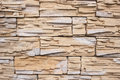 Wall Is Faced With Tiles Of  Sandstone Stock Image - 71040901