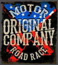 Motorcycle Typography, Vintage Motor, T-shirt Graphics, Vectors Stock Image - 71042521
