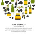 Vector Cartoon Flat Olive Oil Background Stock Photography - 71059552