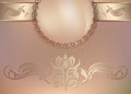 Vintage Floral Background With Pearls And Ornament Royalty Free Stock Images - 71075419