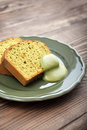 Pound Cake With Tea Matcha Royalty Free Stock Images - 71087719