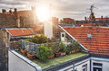 Small Rooftop Garden Royalty Free Stock Photography - 71093307